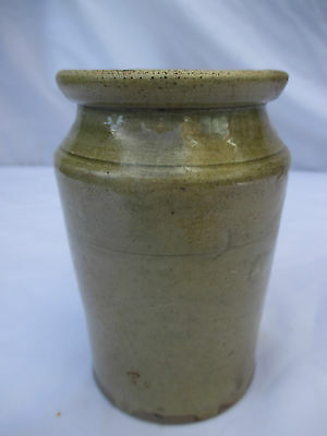 VERY EARLY SLIP GLAZE STONEWARE EARTHENWARE JAR POT BOTTLE VINTAGE c1850s