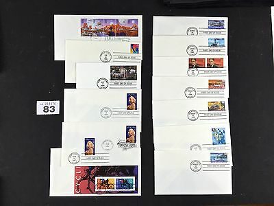 13x USA USPS American first day cover stamps job lot FDC 083