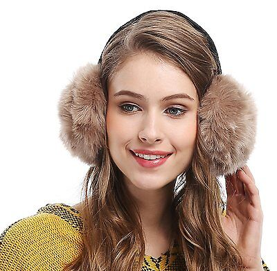 Unisex Winter Big Ear Warmers Soft Plush Faux Fur Ear Muff
