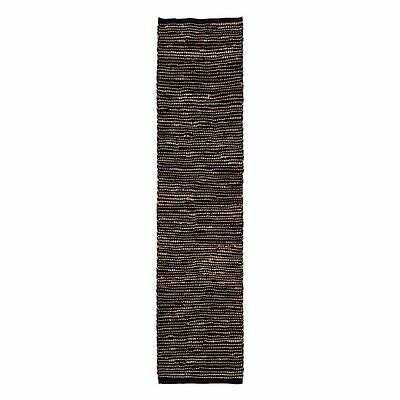 NEW FAB Rugs Ibis Jute Runner Rug, Black