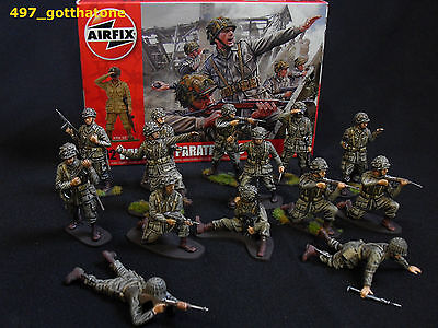 1/32 Airfix Ww2 Professionally Painted+Boxed American Paratroops X 14. Soldier