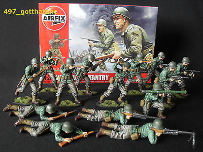 1/32 Airfix Ww2 Pro- Painted American Infantry Boxed X 14.