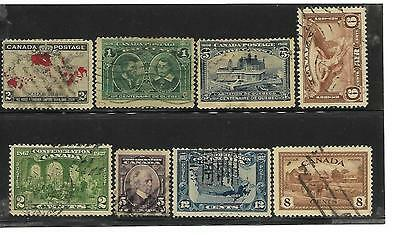 8 Early Canadian stamps (used)