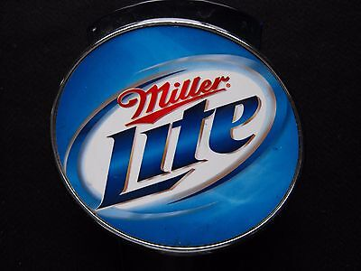 """Miller Lite Tall Beer Tap Handle Brew Draft 12"""" Large Clear Blue Plastic Pull"""