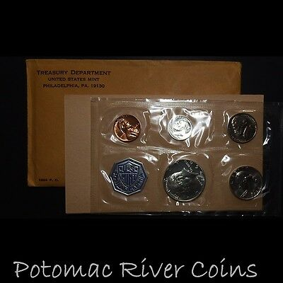 1964 US 5 Coin Proof Set; 3 90% Silver Coins; Free Shipping