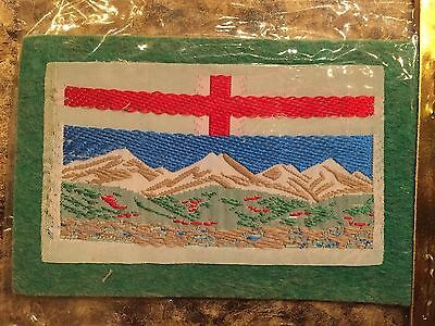 New Vintage Alberta Flag Self Adhesive Sew On Woven Patch Badge Sealed AB Canada