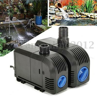 Electric Submersible Aquarium Fish Tank Pond Water Pump Waterfall Fountain Sump