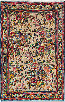 """Hand-knotted Persian Carpet 2'10"""" x 4'3"""" Persian Vintage Wool Rug...DISCOUNTED!"""