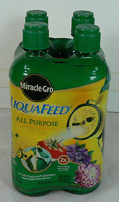 4 16 oz Bottles Miracle-Gro All Purpose Fertilizer for Liquafeed Watering System