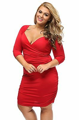 New Womens US Plus Size Sleeve Evening Party Cocktail Short Casual Long Dress