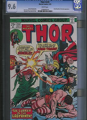 Thor # 235 CGC 9.6 White Pages. UnRestored