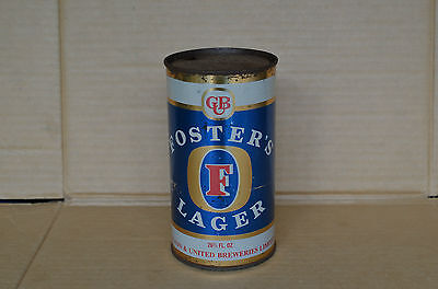 Old Flat Top Fosters Lager 26 2/3 Fluid Oz Tin Beer Can