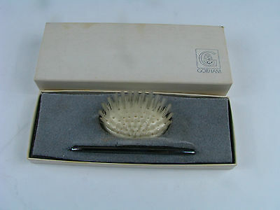 Gorham Men's Travel Set Kit With Comb & Brush Vintage Silver Plated W/ Box