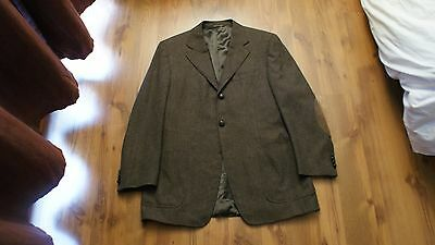 Canali Wool Cashmere Blend Brown Blazer Sport Coat Size 40 R Made in Italy