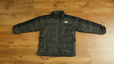 Boy's The North Face Down Jacket 550 Fill Size 7/8 Small Gray