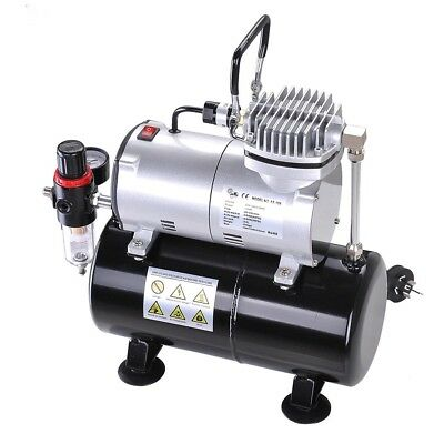 1/6HP Air Compressor with 3L Tank Pressure Regulator for Spray Gun Air Brush