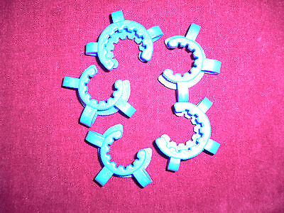 5 x NEW Keck Clamp/Clip, Size 19/22, Blue