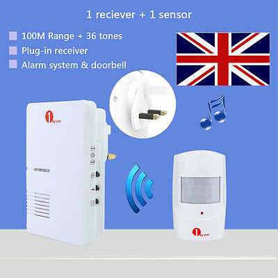 Wireless PIR Shop Store Entry Visitor Door Bell Chime Welcome Motion Sensor Home