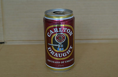 Carlton Draught 100 Years Of Cheers Collectors 375Ml Beer Can