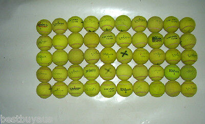 50 Used Tennis Balls For Kids, Dogs, Backyard Games Fixed Price Ship Aus Wide