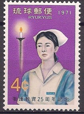 Ryukyu 1971 Nurse Nursing Medical Health Candle Medicina 1v MNH