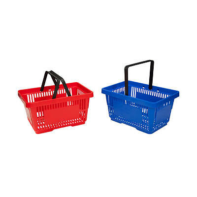 Plastic Shopping Baskets with Handles Coloured Plastic Baskets with Stacker