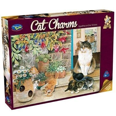 Holdson 1000 Piece Puzzle - Cat Charms (Agnetha & Her Kittens)