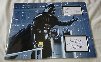 Star Wars Darth Vader Dave Prowse James Earl Jones signed  16x12 display  AFTAL