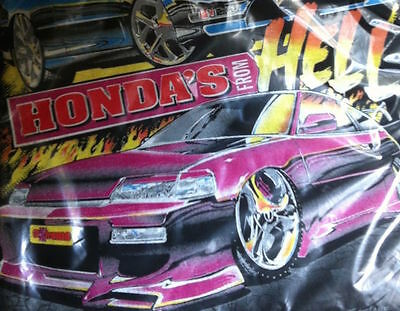 Fastlane Honda's From Hell Civic T Shirt Xl Very Rare Old Stock Drift  New
