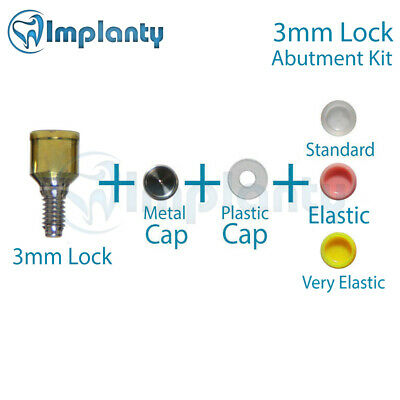 Locator Abutment Set 3mm Dental Implant Fit With AB Alpha Bio MIS Zest Adin
