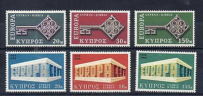 CYPRUS 1968 / 69 EUROPA SG 319 to 321 + 331 to 333 m/m
