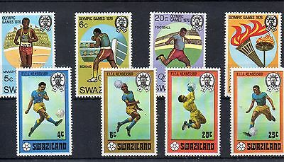 SWAZILAND  1976 SG 255 to 262 m/m