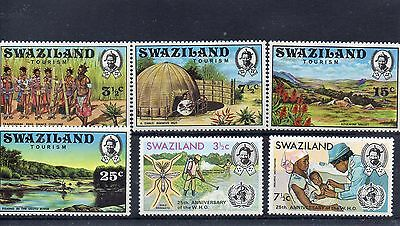 SWAZILAND  1972 SG 194 to 199 m/m