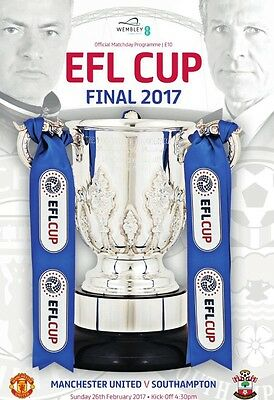 EFL Cup Final 2017 Official Programme. Manchester United V Southampton  Mint