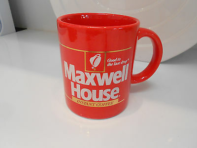 "Maxwell House Brightly Colored Mug-Vg+ 3 3/4"" Tall"