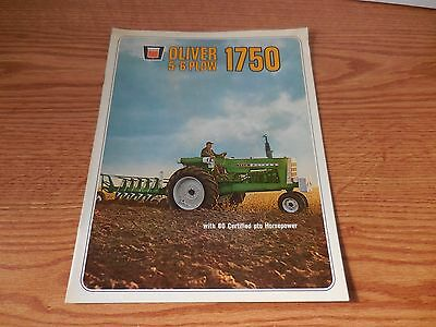 Oliver 1750 Tractor Brochure Literature Advertisement