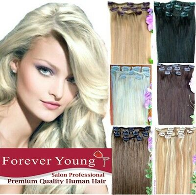 CLEARANCE Any Color Clip in 100% Remy Human Hair Extensions 6 Piece Weft Set