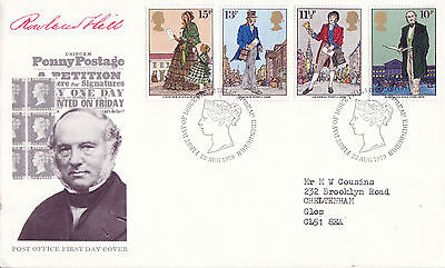 22 AUGUST 1979 SIR ROWLAND HILL POST OFFICE FIRST DAY COVER BUREAU SHS (j)
