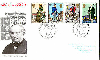 22 AUGUST 1979 SIR ROWLAND HILL POST OFFICE FIRST DAY COVER BUREAU SHS (b)