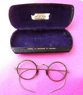 Antique Glasses- Spectacles.faux T Shell Round Frames.