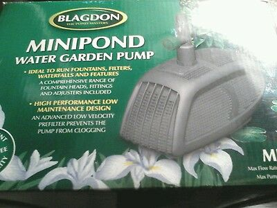 New Blagdon Mini Pond Pump 2000, Garden Waterfall Fountain Filter Water Feature.