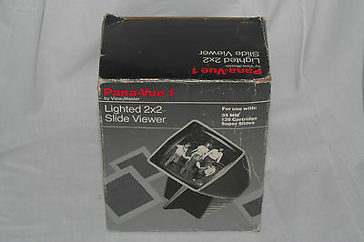 View-Master Pana-Vue 1 Lighted 2x2 Slide Viewer 6560 with instructions and box