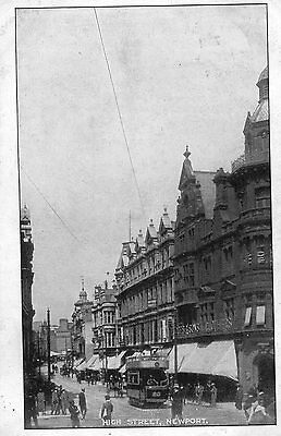 Postcard High Street Newport Monmouthshire Cardiff Dated 1906 RPPC L1