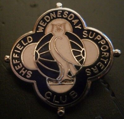 Sheffield Wednesday Supporters Club Football Brooch Pin Badge Maker Priest