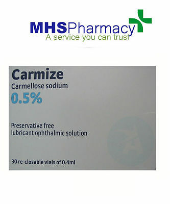 Carmellose Sodium 0.5% 30x0.4ml Single-dose Re-closable Eye Drop Vial brand vary