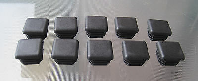 10: 7/8 Inch Square Tubing Plastic End Cap Post Plug Chair Glide Insert .875""