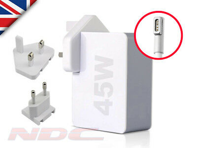 45W UK/EU Power Supply Adapter/Charger for Apple Macbook Air 11/13 A1369/A1370