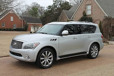 "2012 Infiniti QX56 7-passenger One Owner Perfect Carfax Service Records Theater Pkg Tire and Wheel Pkg 22"" Nav"