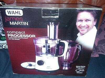 James Martin Food Processor ZX835 By Wahl Compact With Blender, 500 W - White