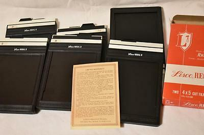 Lot of 6 LISCO REGAL II 4x5 CUT FILM HOLDER for large format photo